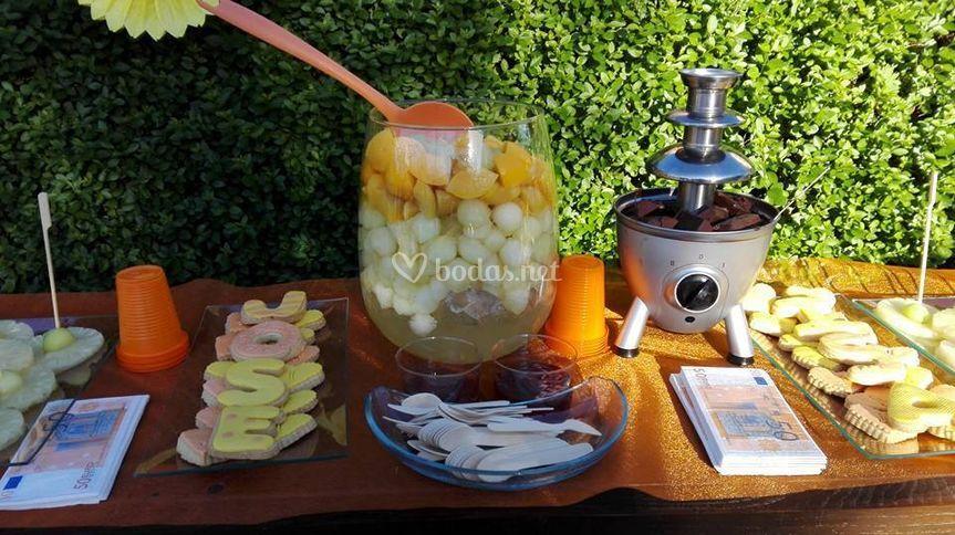 Frutas + choco