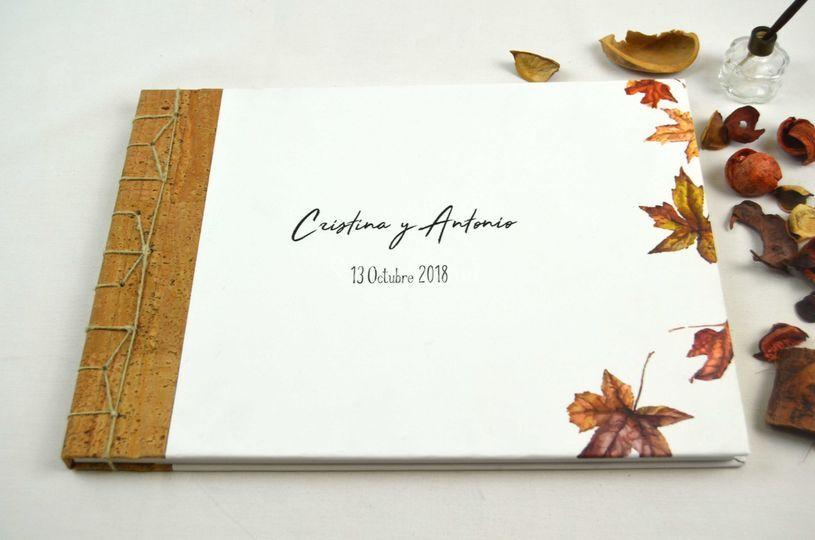 Libro de firmas artesanal