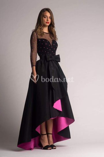 Elegante rosa y negro