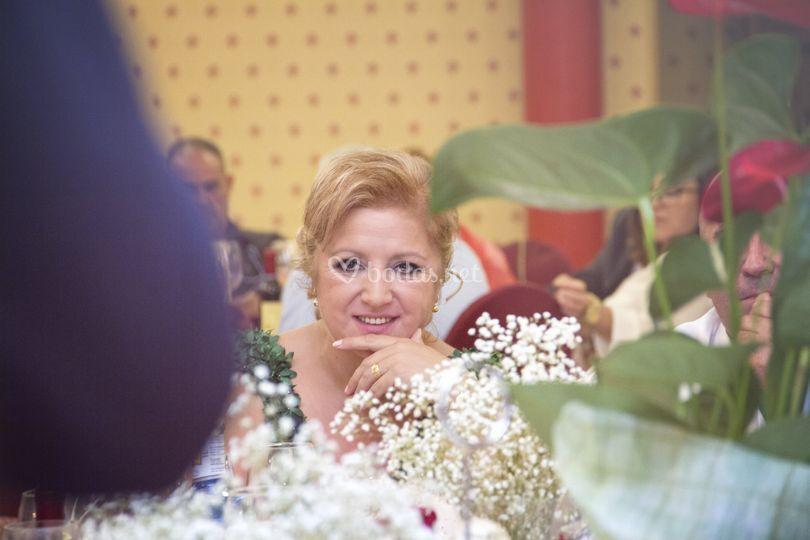 Novia en su boda de plata