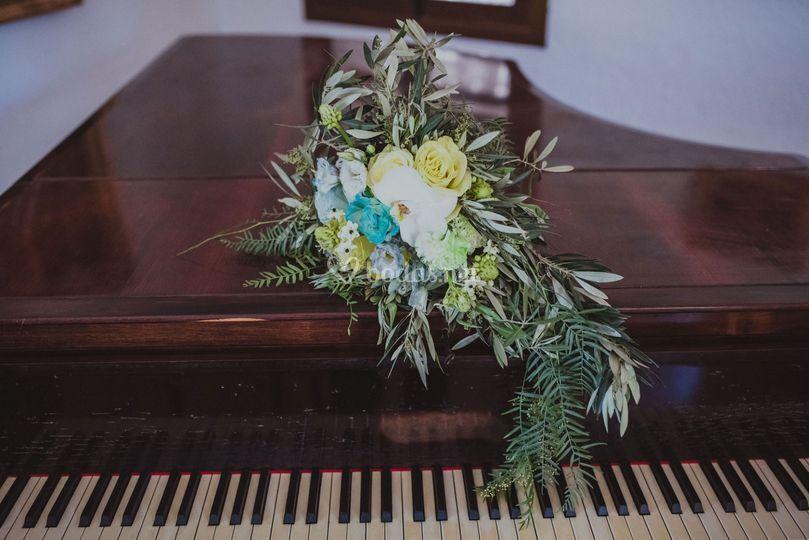 Flor teñida