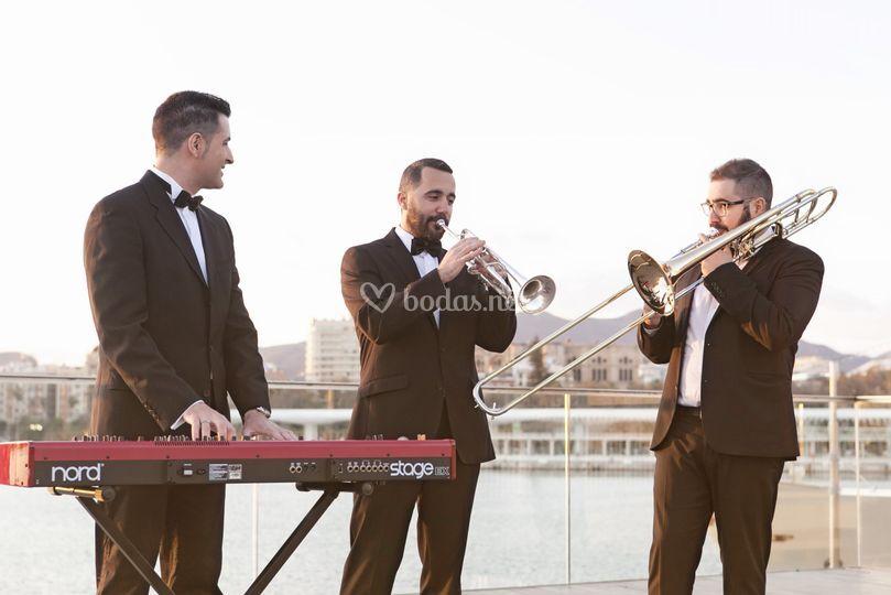 Trío: trompeta, trombón y piano
