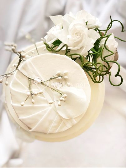 Detalle de una tarta de boda