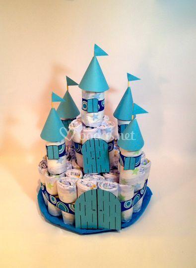Castillo pañales azul