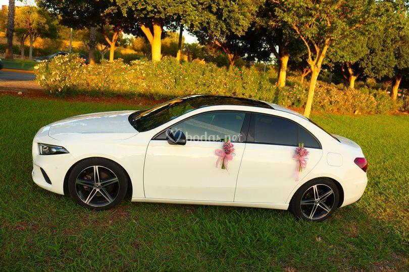 Mercedes Sedan decorado floral