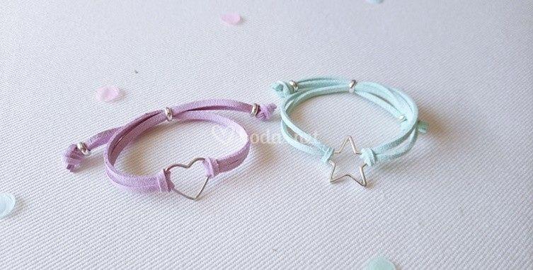 Pulsera estrella o corazón