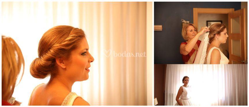Peinado casa de la novia