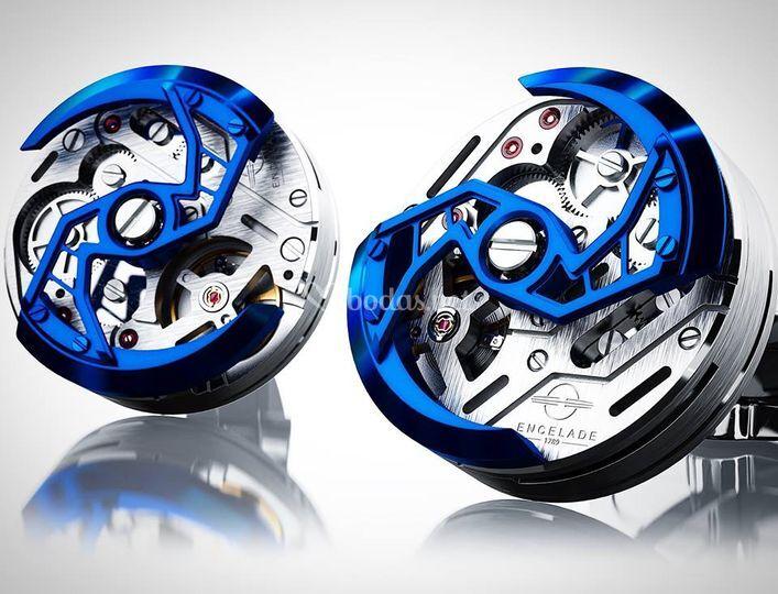 Gemelos de acero azul