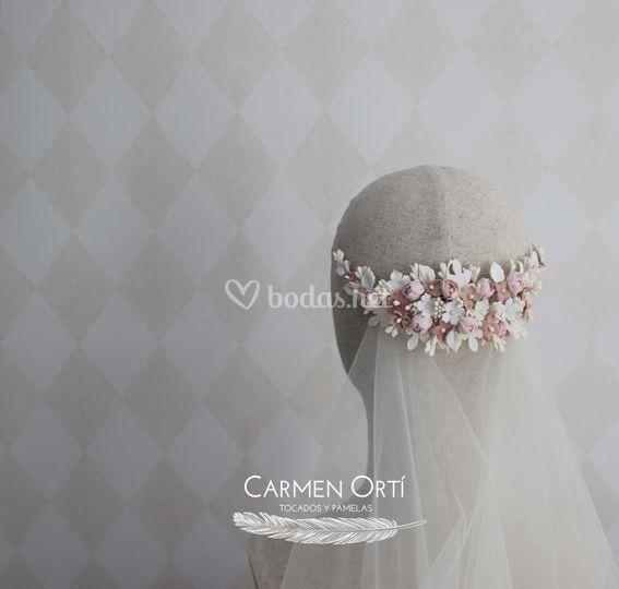Flores porcelana blanco y rosa