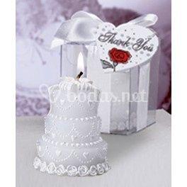 Vela tarta novia
