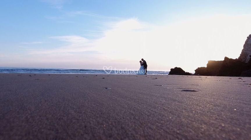 Post boda en playa
