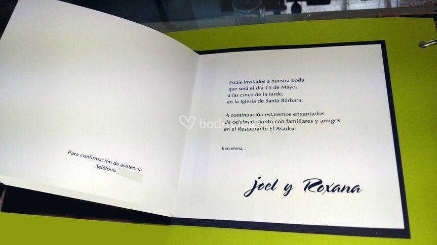 Invitación de Joel