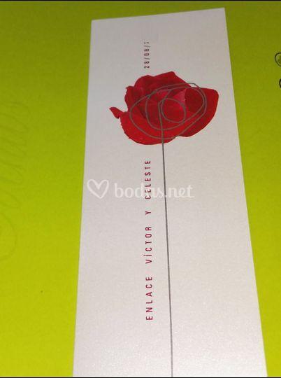 Invitación de flor