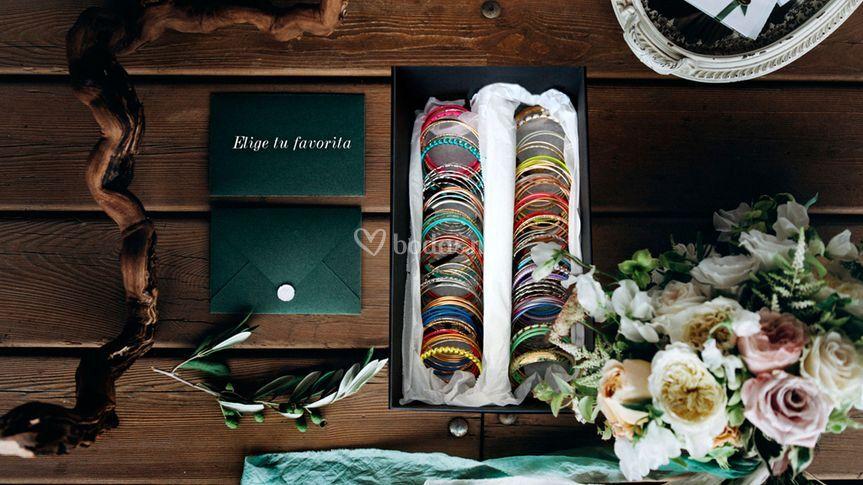 Pulseras en bodas