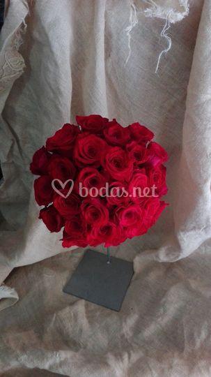 Remo rosas rojas