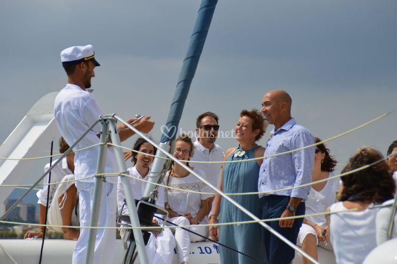 Ceremonia en el barco