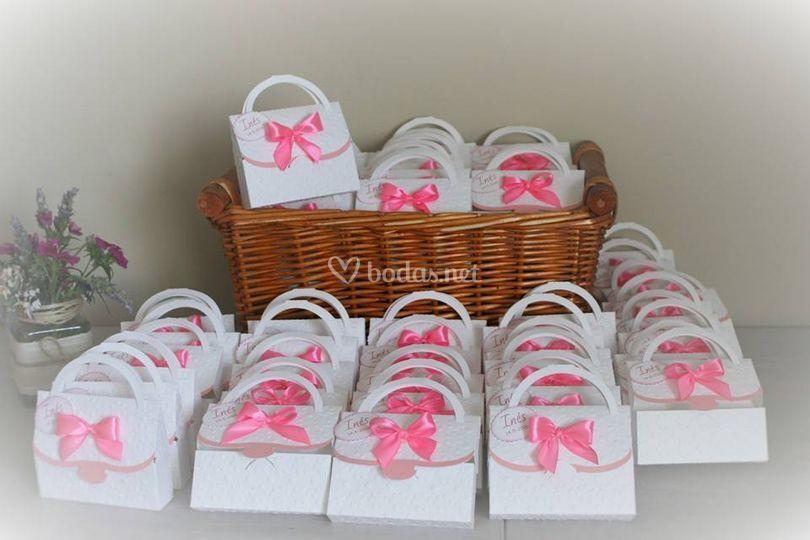Packaging con detalles de boda