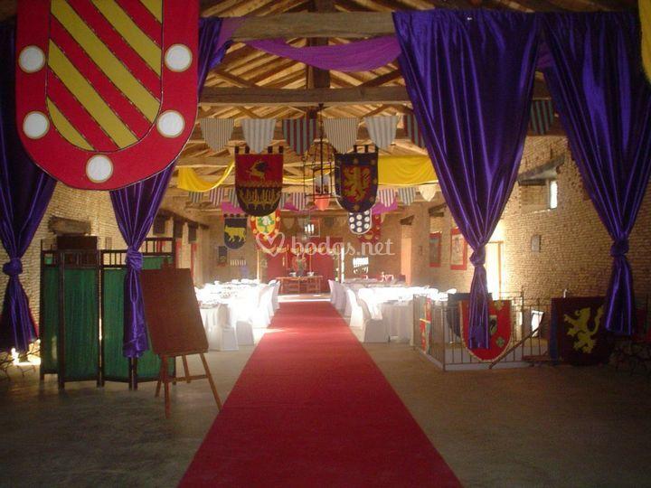 Decoración boda medieval