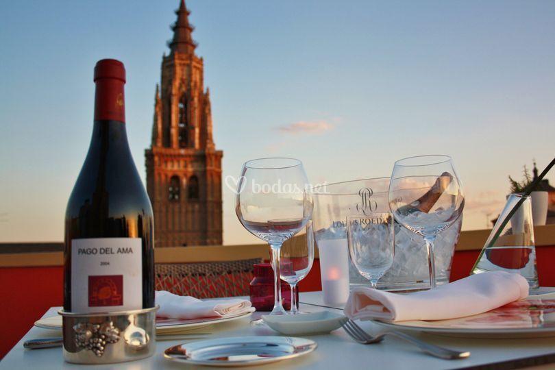 Terraza con vistas a Toledo