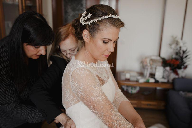 Maquillaje novia e casa