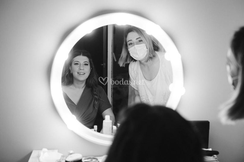 Novia Lucía y Vero maquilladora