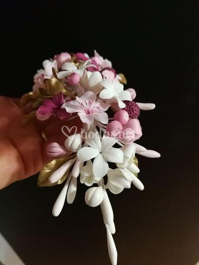 Detalle flores porcelana fría