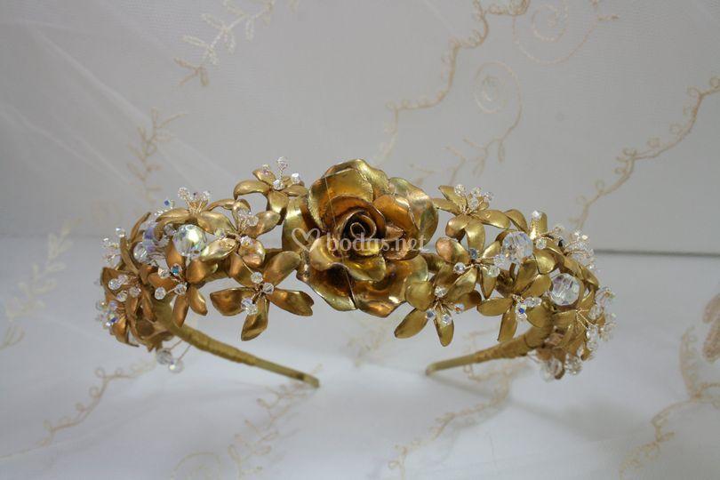 Diadema jazmines Lustre de Oro
