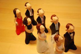 Figuras de Papel Mache - Figuras para la tarta