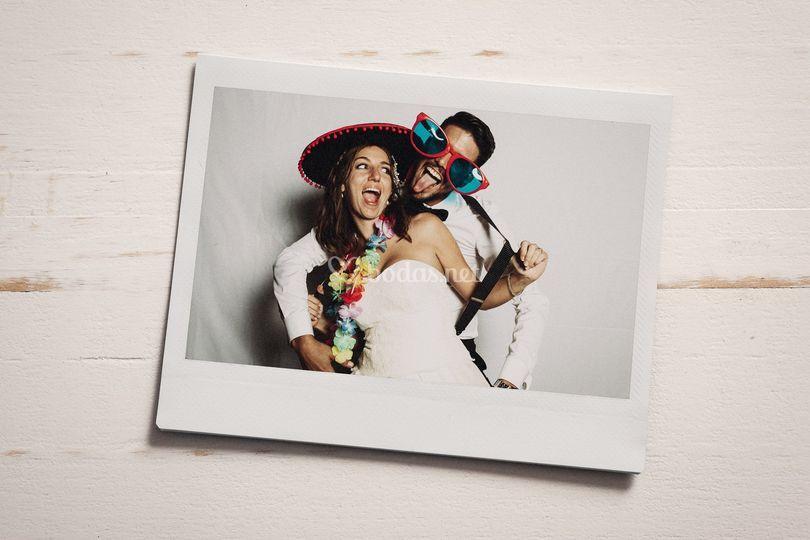 Photocall de una boda