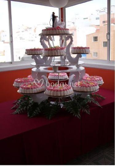 Ejemplo de tarta nupcial
