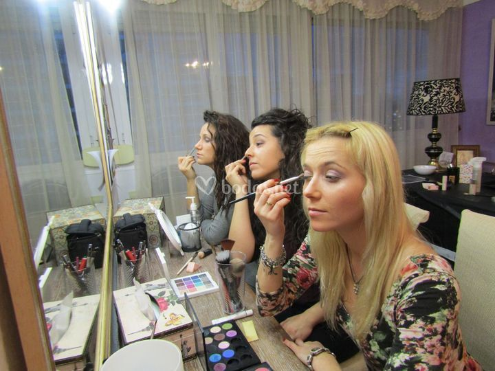 Fiesta de maquillaje