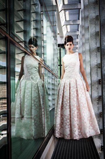 Vestido de novia Floqueada