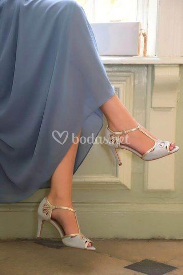 Zapatos Esme gris perlado