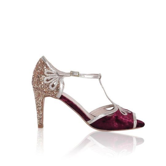 Zapatos Esme vino/oro