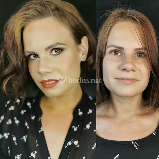 Peinado y maquillaje de fiesta