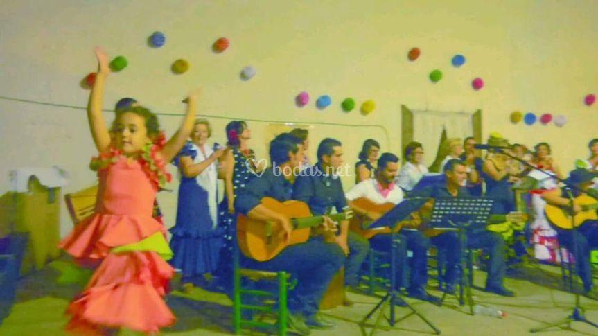Actuación en una fiesta