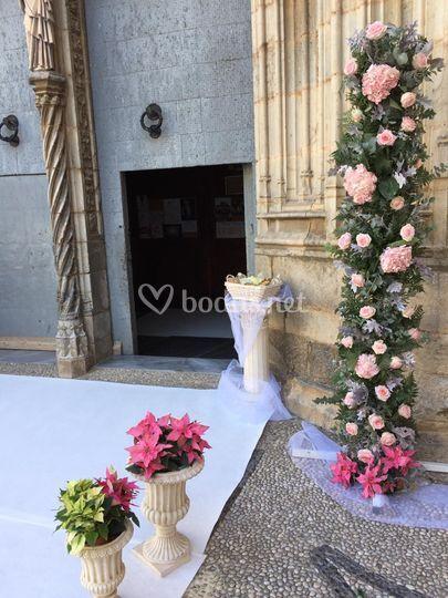 Arreglos románticos en rosa