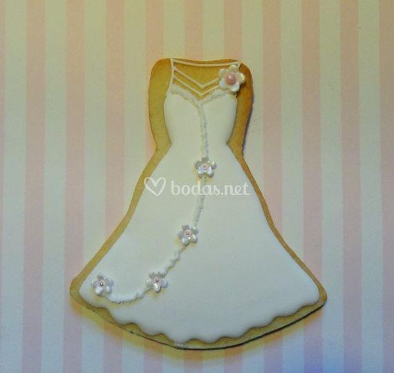 Vestido de novia con detalles florales
