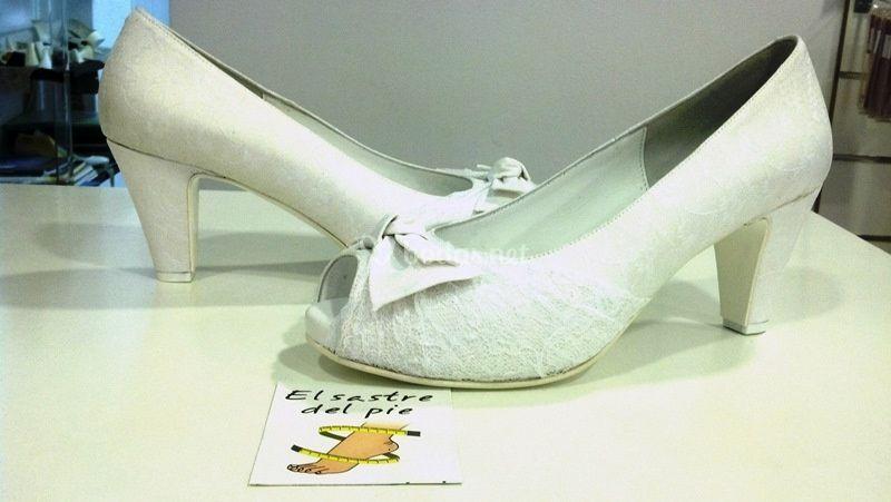 zapatos con lazo para novias de el sastre del pie - zapatos | foto 5
