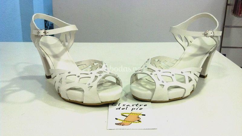 Zapatos abiertos para novia