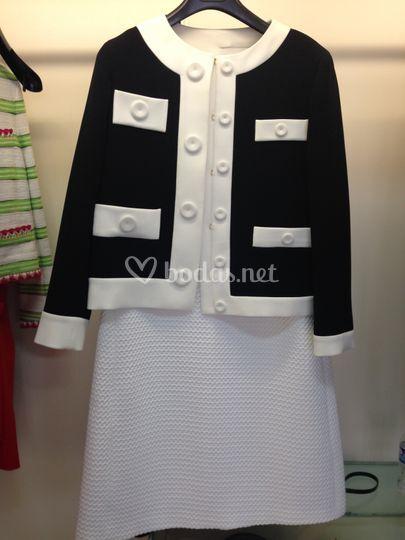 Vestido y chaqueta Moschino