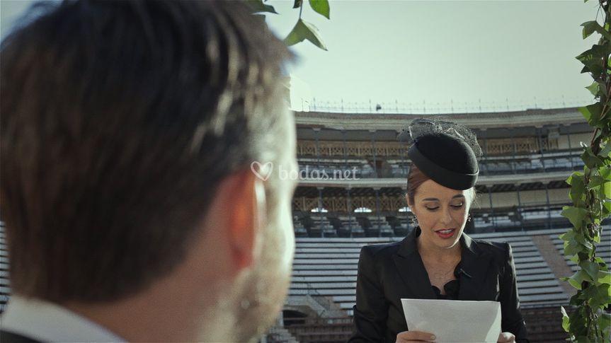 Oficiando una boda