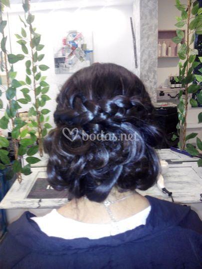 Peinado novia Cristina Diaz