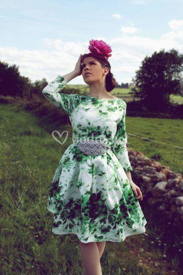 b4b386b96c Lydia Valledor Vestido estampado flores