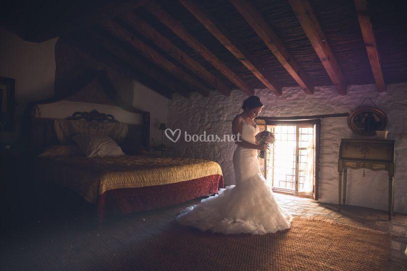La novia en su hotel