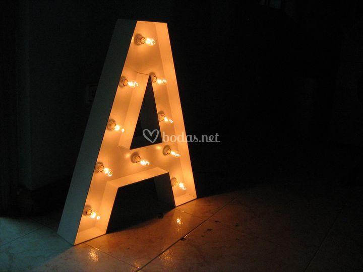 Letra con luz
