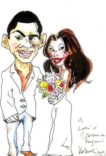 Caricaturas de boda
