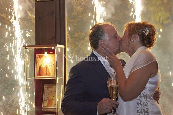 Un beso romántico