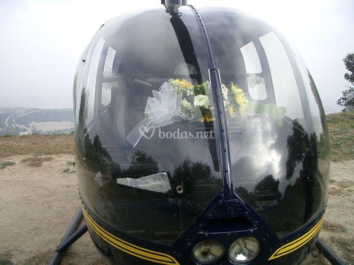 Decoración del helicóptero