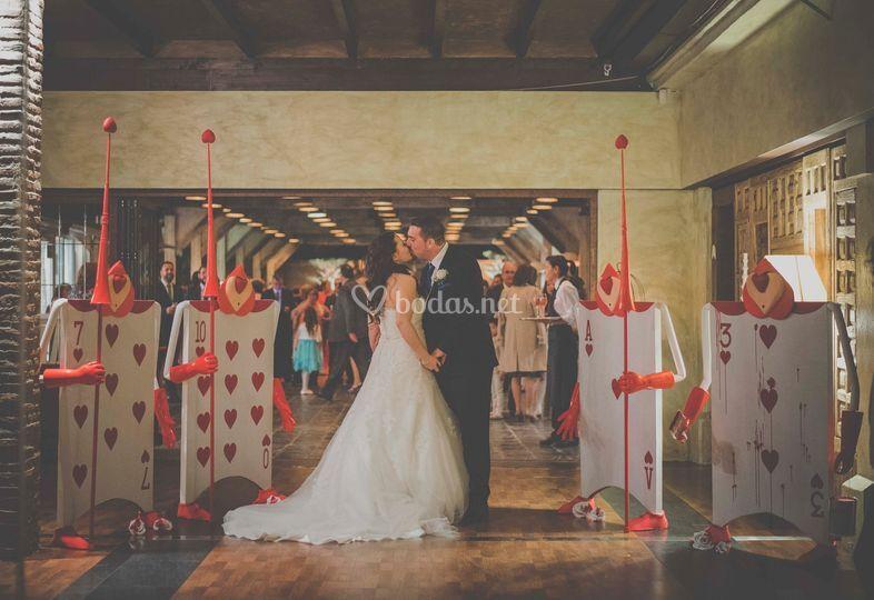 Decoración de la entrada para boda Disney